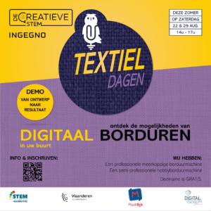 Textiel Dagen - Borduren 22/08