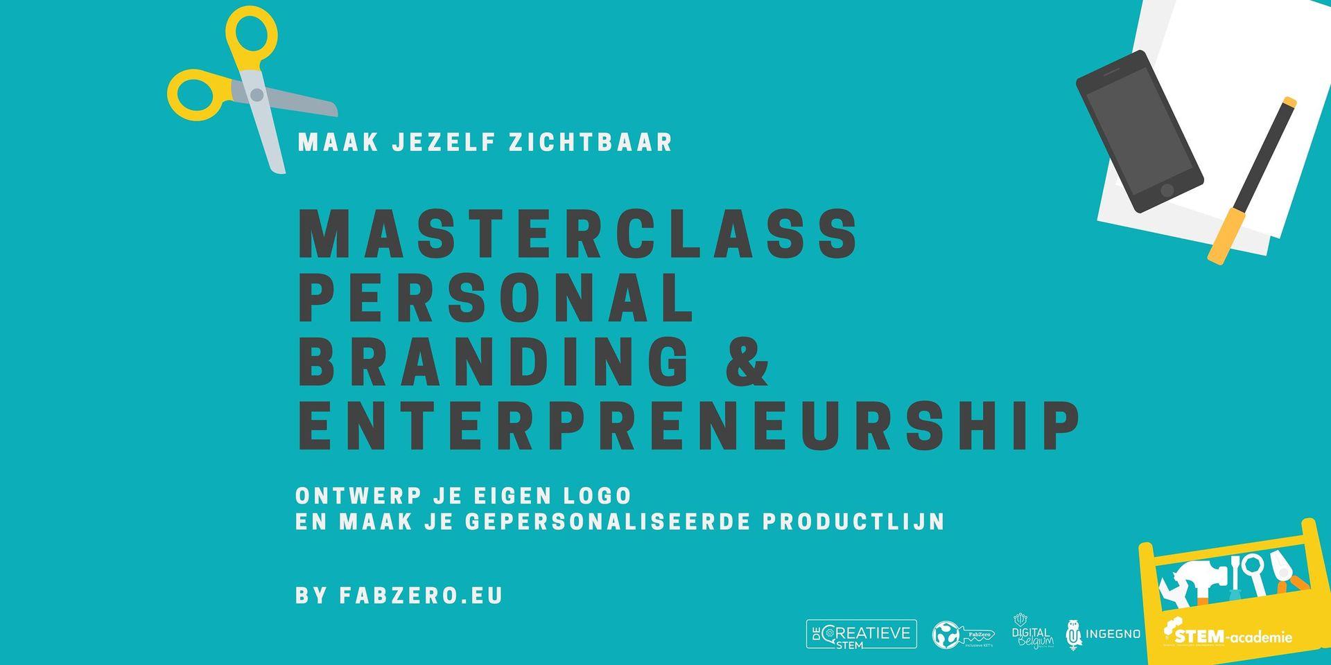 Masterclass Personal Branding & Entrepreneurship, do, vanaf 7/10